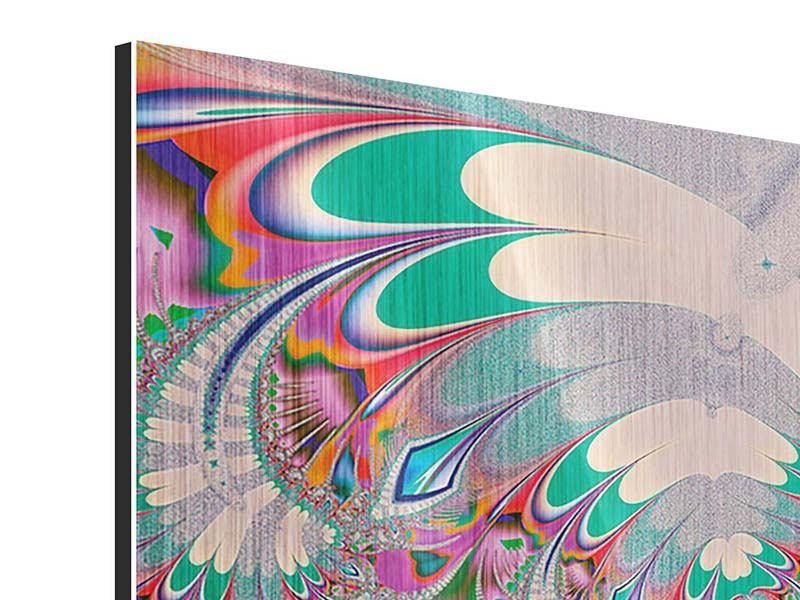 Metallic-Bild 9-teilig Fraktal Design
