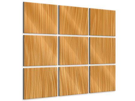 Metallic-Bild 9-teilig Wooden