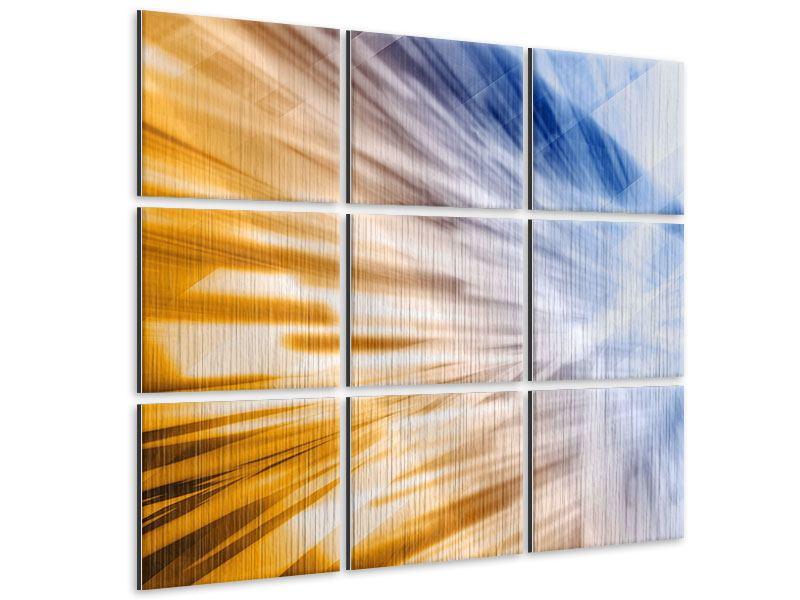 Metallic-Bild 9-teilig Abstrakte Galaxie
