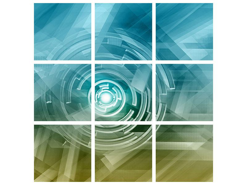 Metallic-Bild 9-teilig Future