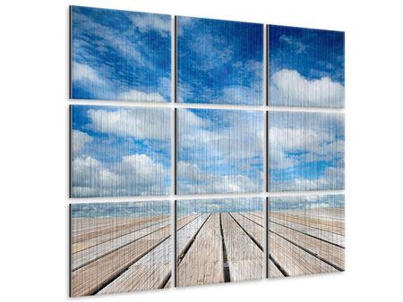 Metallic-Bild 9-teilig Hoch über den Wolken