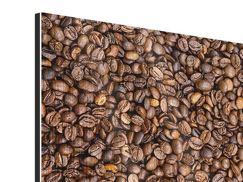 Metallic-Bild 9-teilig Kaffeebohnen