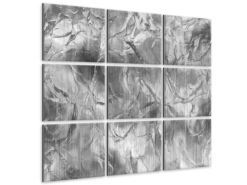 Metallic-Bild 9-teilig Eiswand
