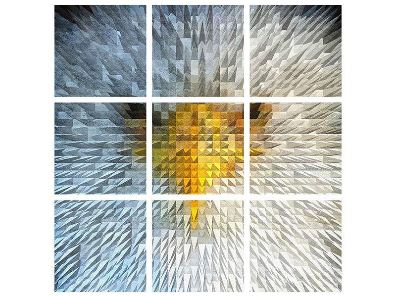 Metallic-Bild 9-teilig Adler