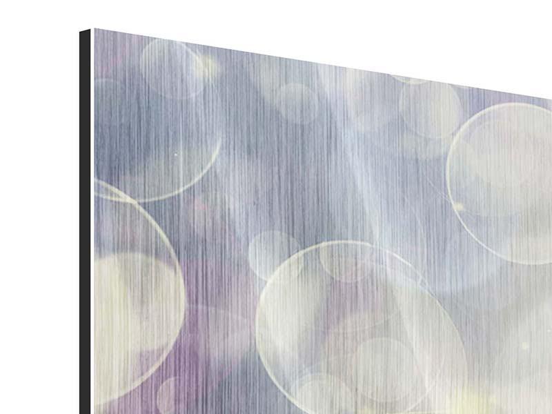 Metallic-Bild 9-teilig Buntes Tulpenbeet im Lichtspiel