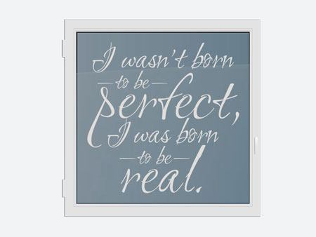 Decorazioni adesive finestre I was born to be real