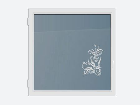 Decorative Window Film Plants Ornament