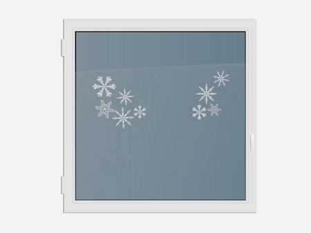 Decorative Window Film crystal star