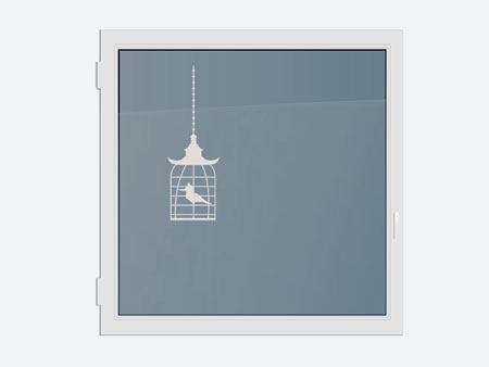 Decorative Window Film The bird in the cage