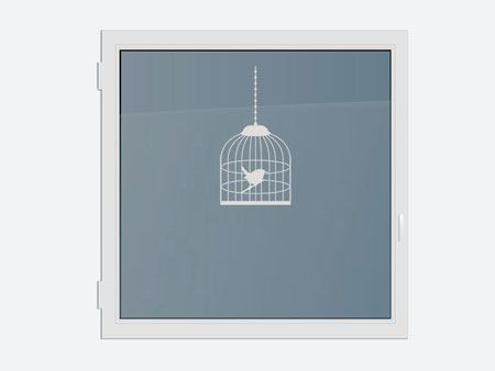 Decorative Window Film Bird cage with