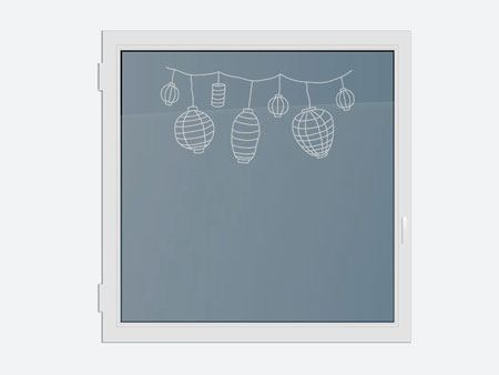 Decorative Window Film lanterns