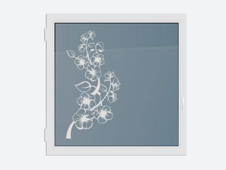 Decorative Window Film flowering vine