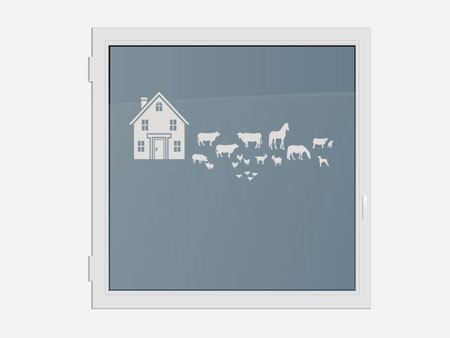 Decorative Window Film The farm