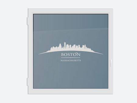 Decorazioni adesive finestre Skyline Boston