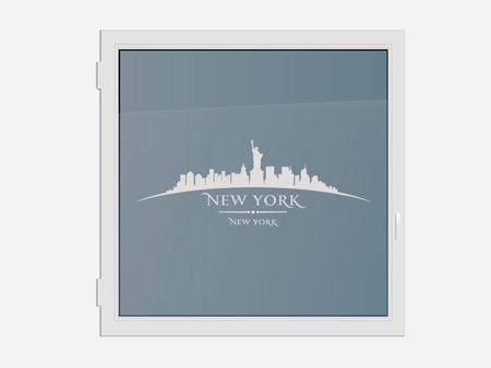 Decorative Window Film Skyline New York