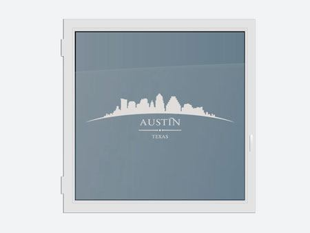 Decorative Window Film Skyline Austin