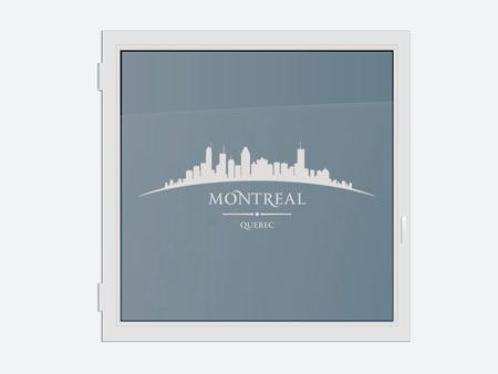 Decorative Window Film Skyline Montreal