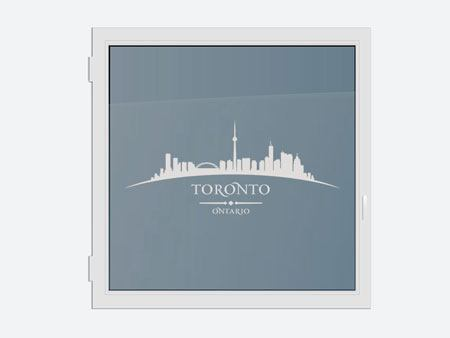 Decorative Window Film Skyline Toronto