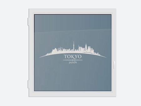 Decorative Window Film Skyline Tokyo