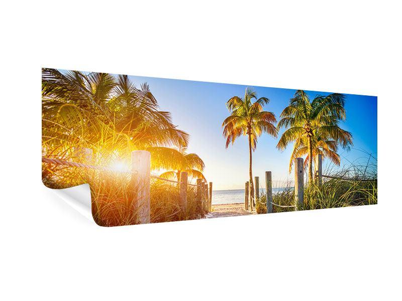 Poster Panorama Strandweg