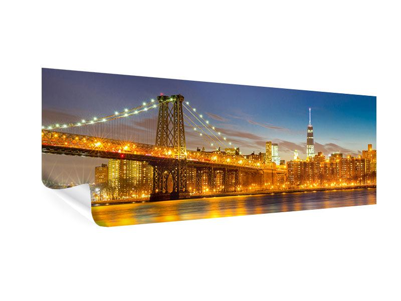 Poster Panorama Skyline NY Williamsburg Bridge