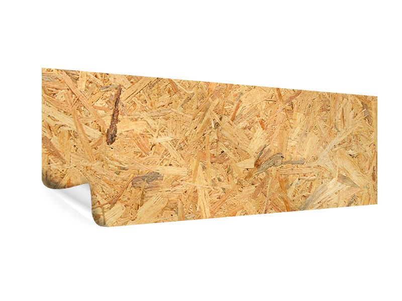 Poster Panorama Gepresstes Holz