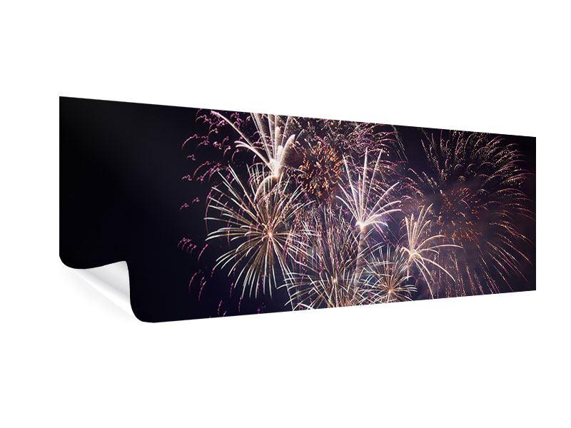 Poster Panorama Feuerwerk