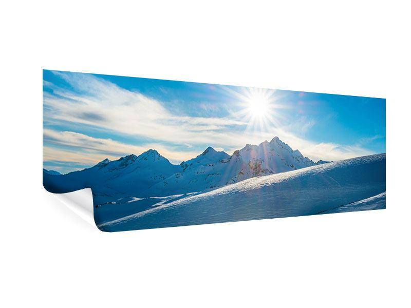 Poster Panorama Ein Wintermärchen in den Bergen