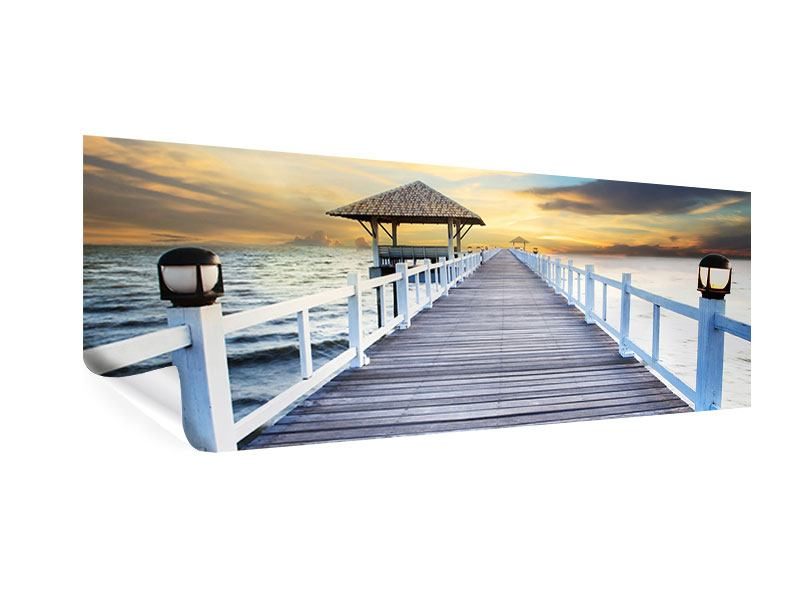 Poster Panorama Die Brücke ins Meer