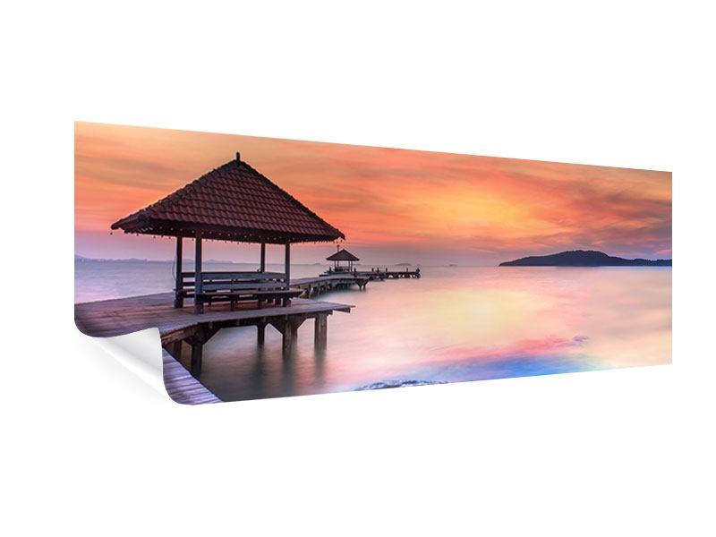 Poster Panorama Paradiesische Brücke