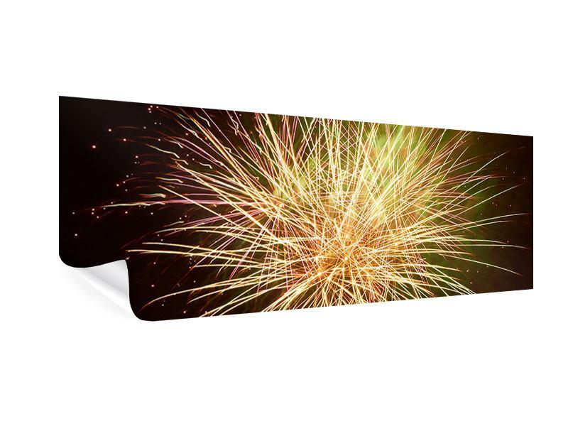 Poster Panorama Feuerwerk XXL