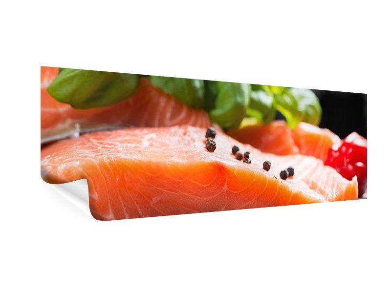 Poster Panorama Frischer Fisch