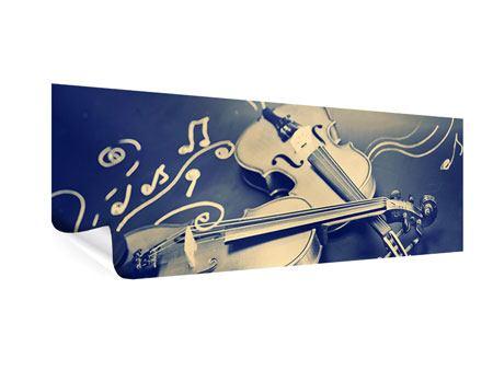 Poster Panorama Geigen
