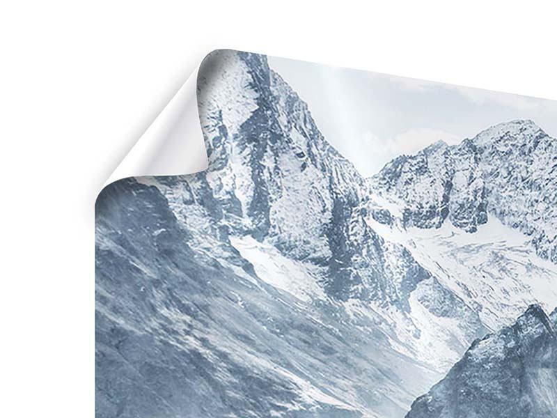 Poster Panorama Gigantische Berggipfel