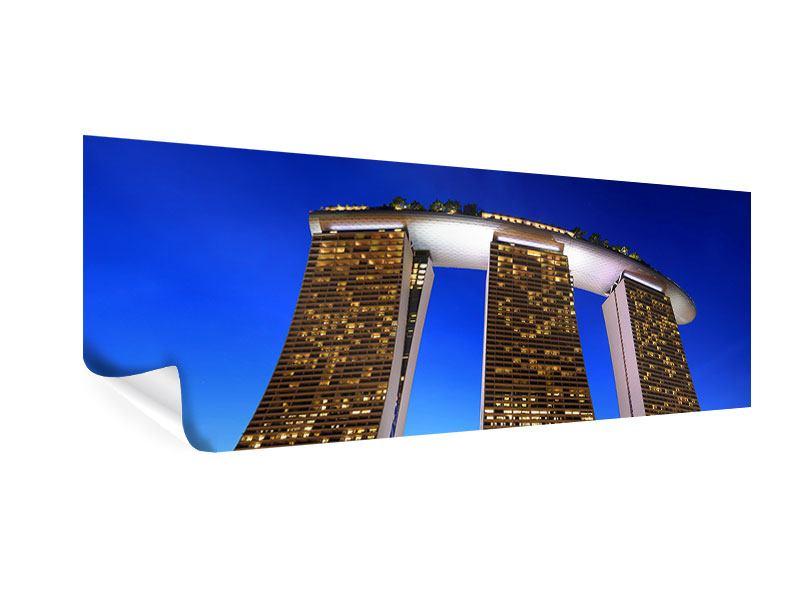 Poster Panorama Wolkenkratzer Singapur