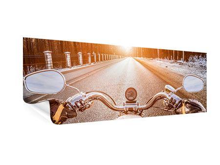 Poster Panorama Auf dem Motorrad