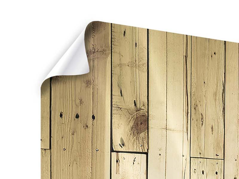 Poster Panorama Holzpaneelen