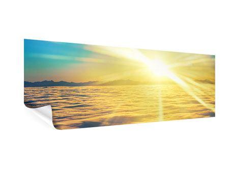 Poster Panorama Sonnenuntergang über den Wolken