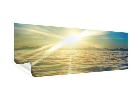 Poster Panorama Sonnenaufgang über den Wolken