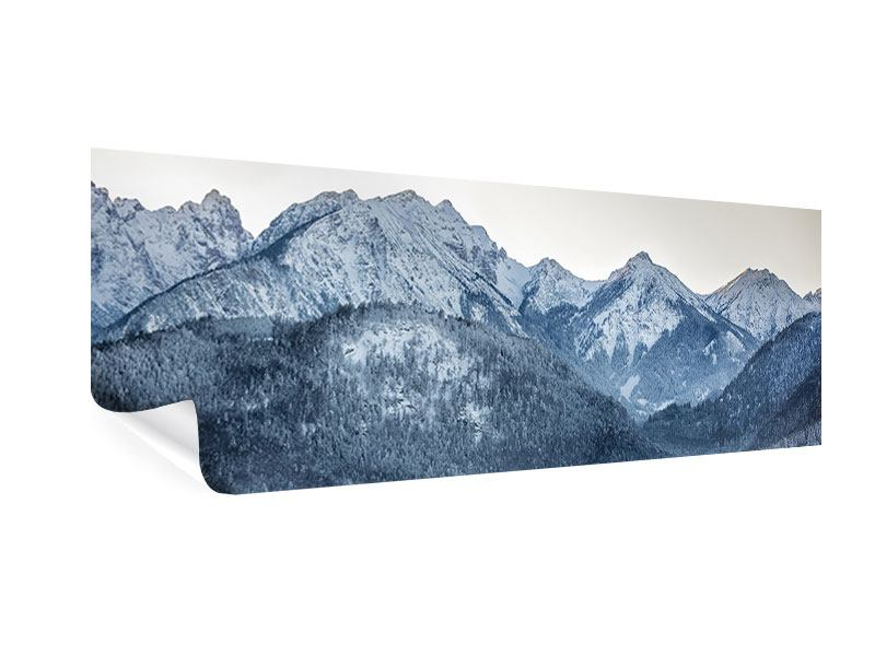 Poster Panorama Schwarzweissfotografie Berge