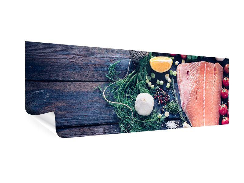 Poster Panorama Fangfrischer Fisch