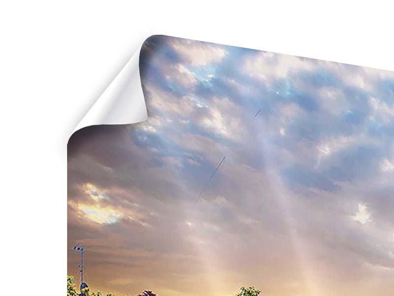 Poster Panorama Schweizer Berge im Sommer