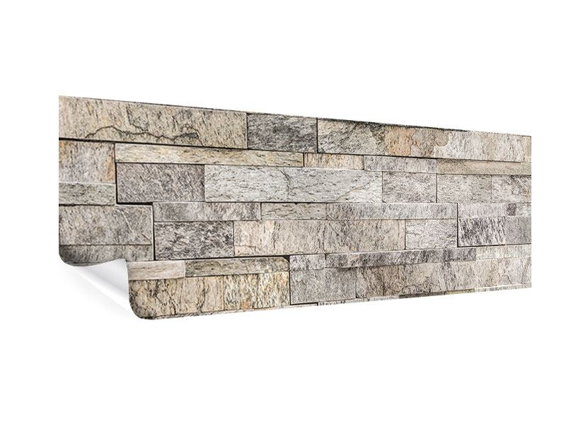 Poster Panorama Elegante Steinmauer
