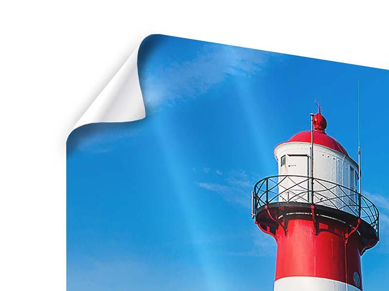 Poster Panorama Sommer beim Leuchtturm