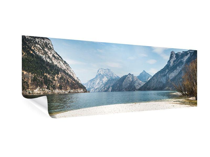 Poster Panorama Der idyllische Bergsee