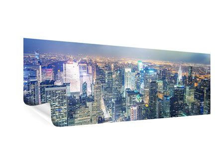 Poster Panorama Skyline NY bei Sonnenuntergang