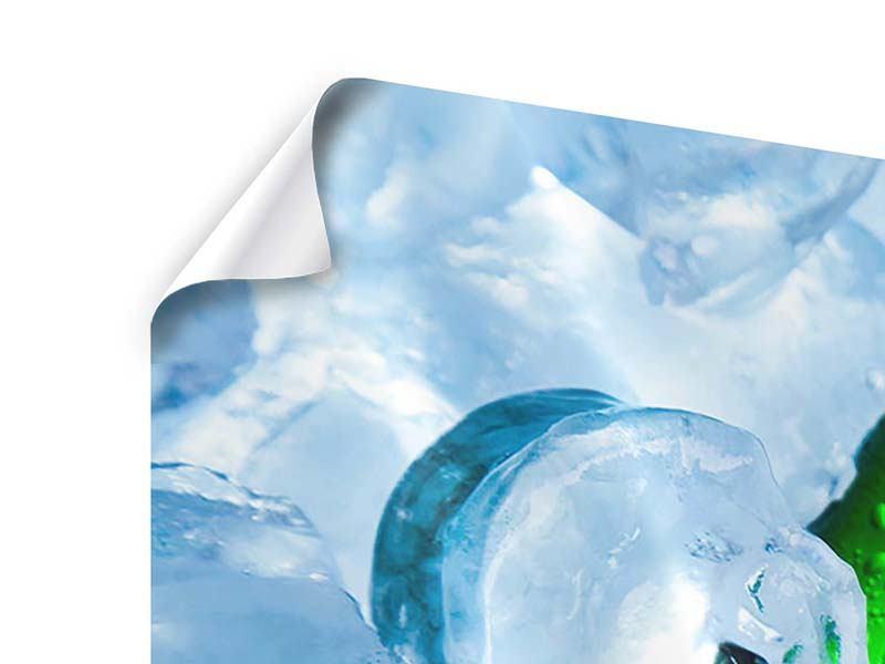 Poster Panorama Eisflaschen