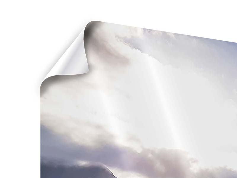 Poster Panorama Der Frühling in den Bergen