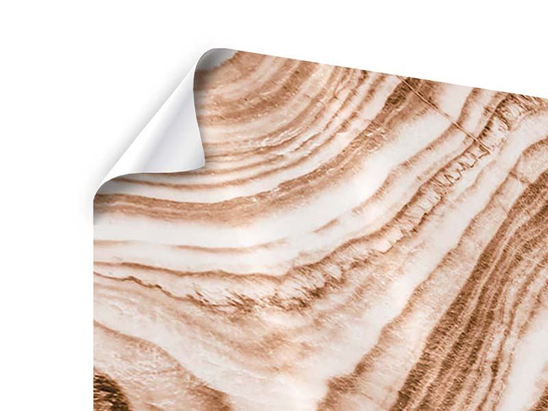 Poster Panorama Marmor in Sepia