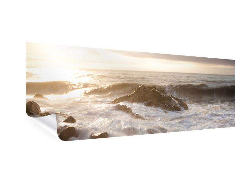 Poster Panorama Meeresbrandung
